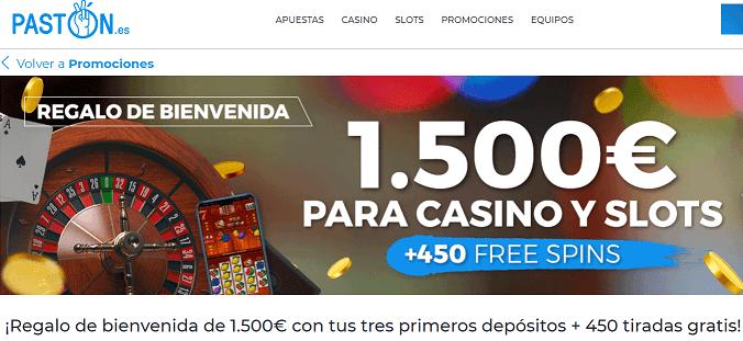 paston casino bono bienvenida