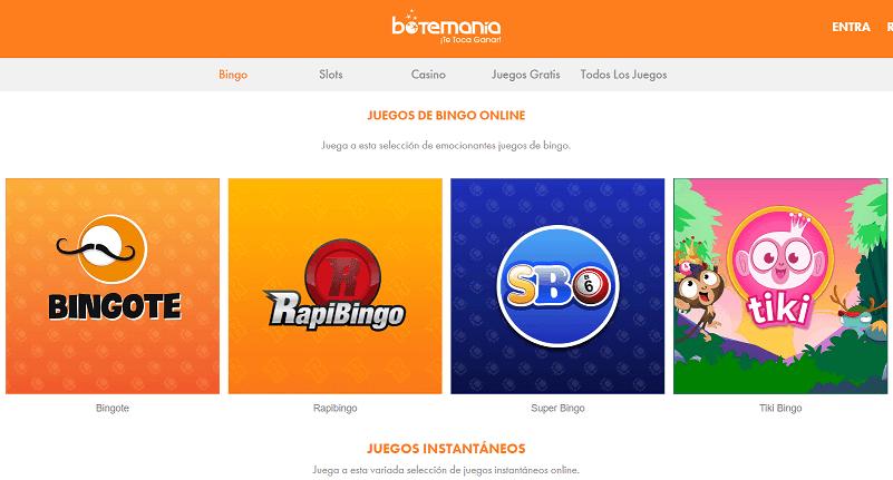 botemania bingo