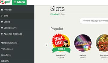 paf slots de casino online