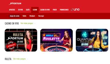 sportium casino en vivo