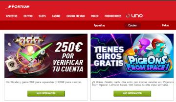sportium tragaperras online de casino