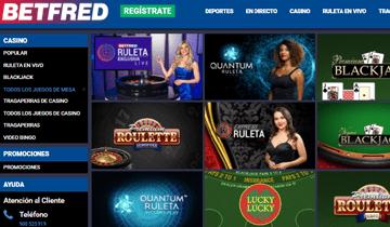 betfred juegos de casino en vivo
