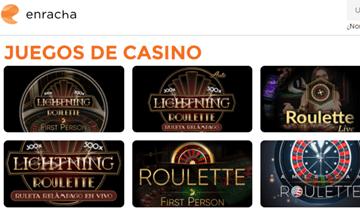 enracha juegos de casino en vivo